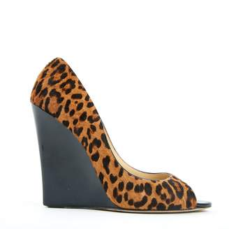 Jimmy Choo Brown Pony-style calfskin Heels