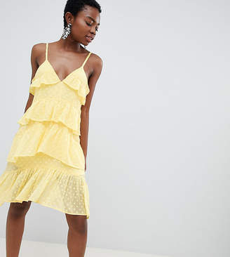 Vero Moda Petite Frill Cami Mini Dress