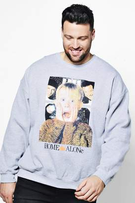 boohoo Big And Tall Home Alone Licence Sweater
