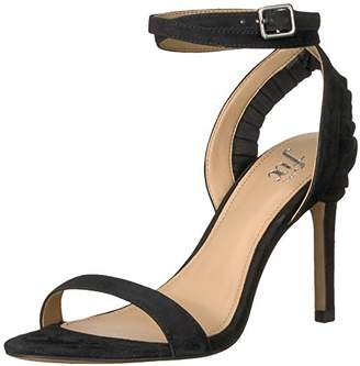 The Fix Women's Caroline Ankle Strap Ruffle Detail Heeled Sandal