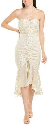 Milly Tara Silk-Blend Midi Dress