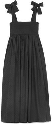 Marysia Swim Lahaina Swiss-dot Cotton Midi Dress