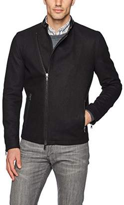 John Varvatos Men's Asymmetrical Zip Jacket