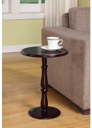 Pilaster Designs Coco Cherry Wood 14-Inch Round Accent Side Plant Stand Display Table