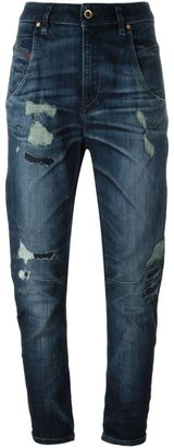 Diesel high rise cropped jeans $236.53 thestylecure.com