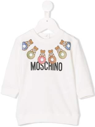 Moschino Kids doughnut teddy logo dress