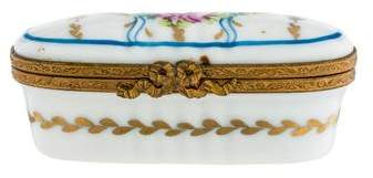 Limoges Oval Porcelain Box