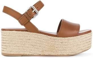 Prada platform strappy sandals
