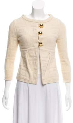 Milly Cashmere Button-Up Cardigan