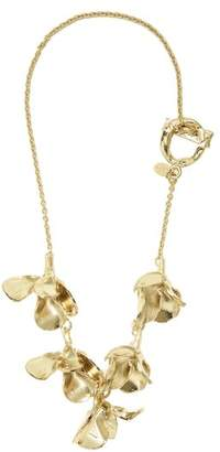 Valentino 3 D Flower Pendant Necklace - Womens - Gold