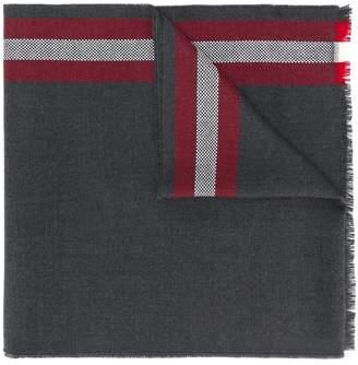 Bally striped woven scarf