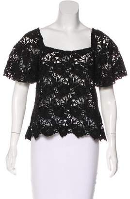 Alexis Lace Square Neck Top