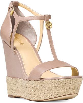 MICHAEL Michael Kors Kerri Wedge Sandals $150 thestylecure.com