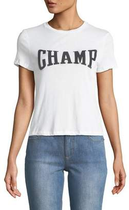Alice + Olivia Cicely Classic CHAMP Graphic Print Tee