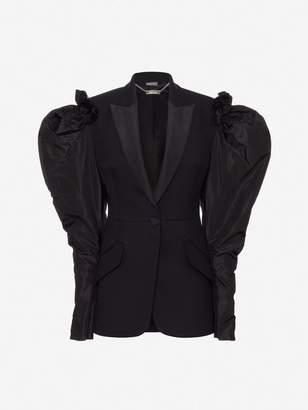 Alexander McQueen Drape Shoulder Tailored Jacket