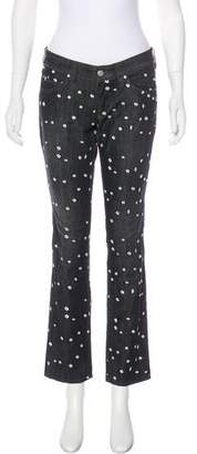 Etoile Isabel Marant Mid-Rise Embroidered Jeans
