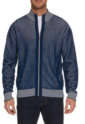 Robert Graham Men's Conboy Wool-Blend Zip-Front Sweater