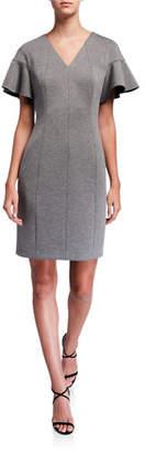 Elie Tahari Geraldine Short-Sleeve Dress