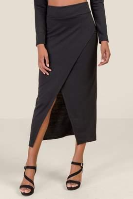 Luna Tulip Hem Skirt - Black