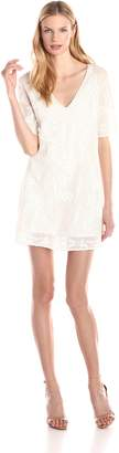 Twelfth Street By Cynthia Vincent Women's Embroidered Mesh Shift Dress