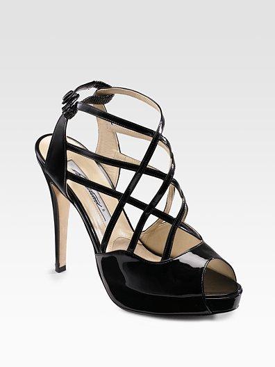 Brian Atwood Peep-Toe Platform Sandals