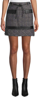 Laundry by Shelli Segal Boucle Tweed Straight Skirt
