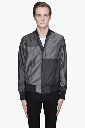 Neil Barrett Grey monochrome Patchwork Jacket
