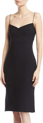 LIKELY Caprio Sweetheart Spaghetti-Strap Crepe Dress