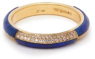 Marc Alary 18kt gold, diamond and lapis lazuli ring