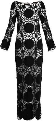 MY BEACHY SIDE Dreamcatcher crochet-knit maxi dress