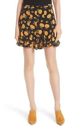 Veronica Beard Weller Floral Silk Miniskirt