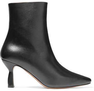 Neous - Sieve Leather Ankle Boots - Black
