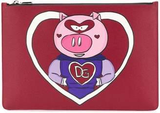 Dolce & Gabbana Pig logo pouch