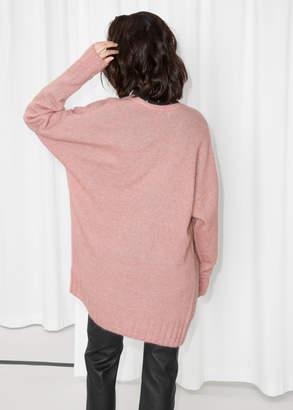 Wool Blend Oversized Cardigan