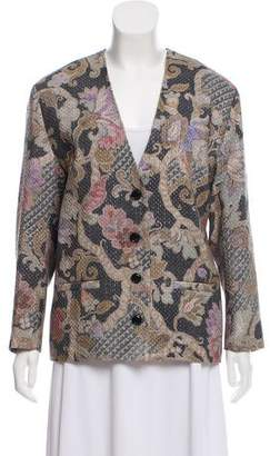 Dries Van Noten Metallic-Accented Wool Jacket