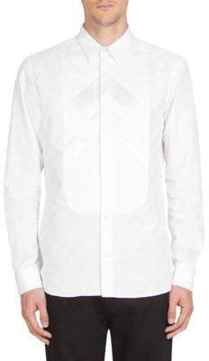 Givenchy Tonal Arrow Bib Cotton Button-Down Shirt
