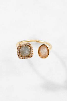 Tai Adjustable Labradorite Gold Ring