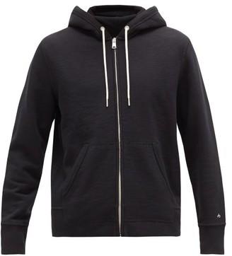 Rag & Bone Zip Through Cotton Jersey Hooded Sweatshirt - Mens - Black