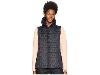 Eileen Fisher Chevron Recycled Nylon High Stand Collar Vest