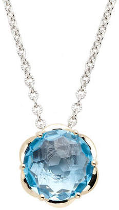 Town & Country Sterling Silver 14K Yellow Gold And Blue Topaz Brazilliance Pendant