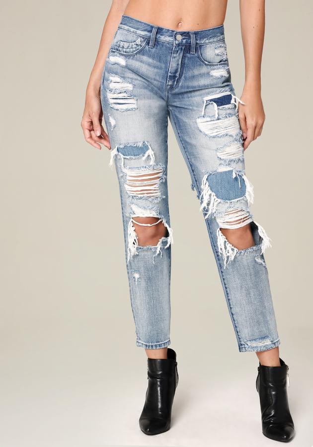 BebeDestroyed Girlfriend Jeans