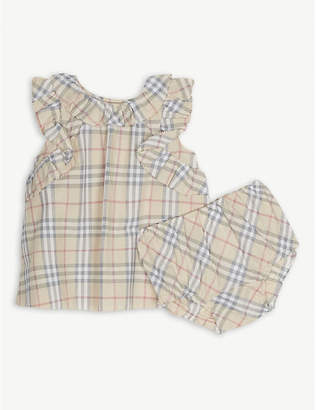 Burberry Carla check dress and bloomers 1-18 months