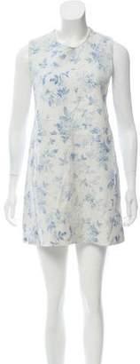 Veda Floral Print Leather Dress