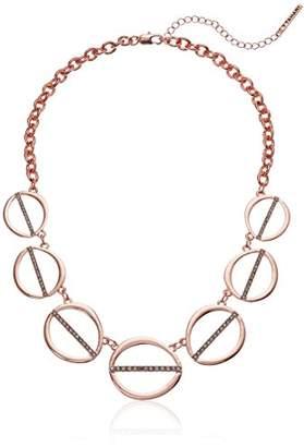 T Tahari Womens Essentials Linked Ovals Necklace