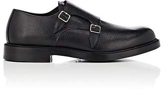 Calvin Klein Men's Grained Leather Double-Monk-Strap Shoes