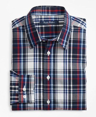 Brooks Brothers Non-Iron Plaid Sport Shirt