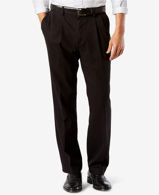 Dockers Men Big & Tall Easy Classic Pleated Fit Khaki Stretch Pants D4