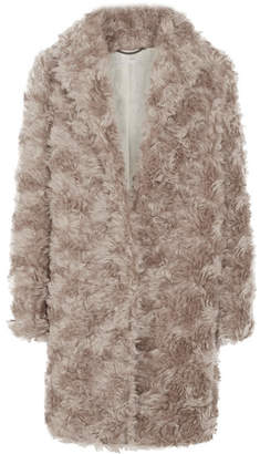 Stella McCartney - Toti Mohair, Cotton And Wool-blend Faux Shearling Coat - Neutral