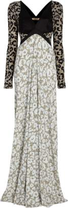 Roberto Cavalli Abstract Thistle Gown