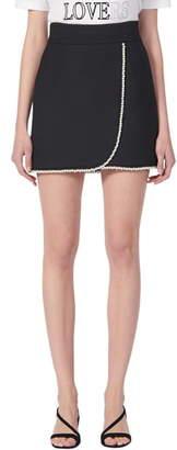 Sandro Vicky Bead Trim Miniskirt